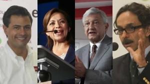 Enrique Peña NIeto, Josefina Vázquez Mota, Andrés Manuel López Obrador y Gabriel Quadri.